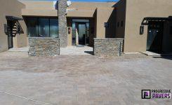 Scottsdale, AZ: Arizona Block Mesquite and Tufa Paver Installation